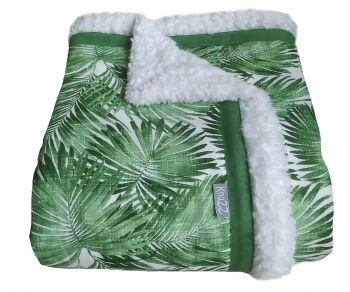 Grote handgemaakte woondeken of plaid palmbladeren