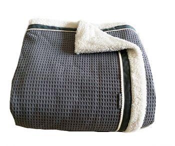 Groot grijs plaid of deken van wafeldoek van Knuzz