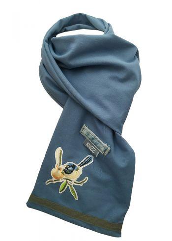 Stoere jeans sjaal met vogels