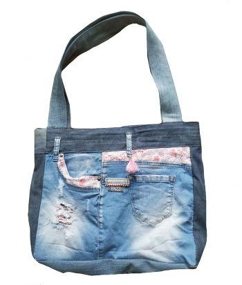 Stoere jeanstas denimtas spijkertas hippie Knuzz