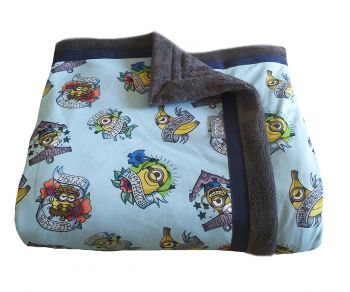 Kinderplaid blauw bello sailor 150 x 150 cm