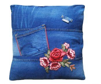 Kussenhoes jeans 45 x 45 cm