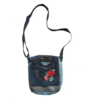 Stoere jeanstas denimtas spijkertas roos Knuzz