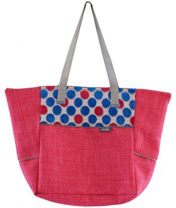 Roze tas met stippen