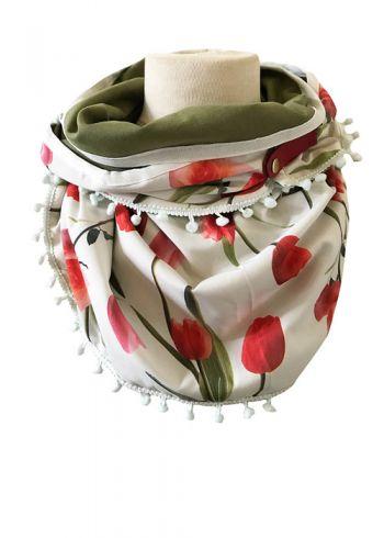 Sjaal met tulpen